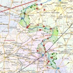 Mapa z granicami parku - Narwiański PN