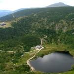 Okolice Karpacza - Strzecha, Samotnia, Mały Staw i Śnieżka w tle