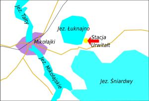 Stacja Meteo Urwitałt, mapa Mikołajki, Mazury